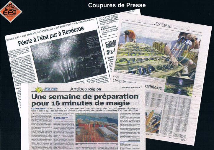 coupures de presse feux d'artifices